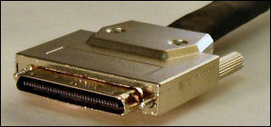 VHDC SCSI cable connector. SCSI cables picture