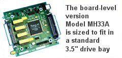 The board-level version Model MH32A is sized to fit in a standard 5.25 drive bay!